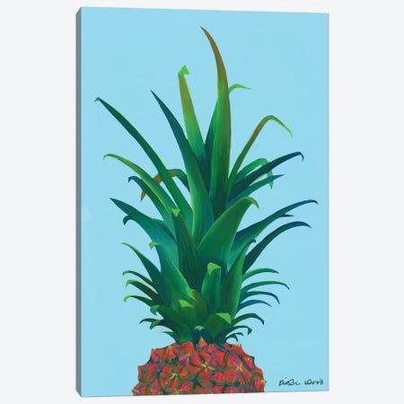 Spiky Pineapple Canvas Print #KWO89} by Kirstin Wood Art Print