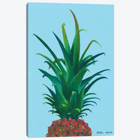 Spiky Pineapple Canvas Print #KWO89} by Kirstin Wood Art Print
