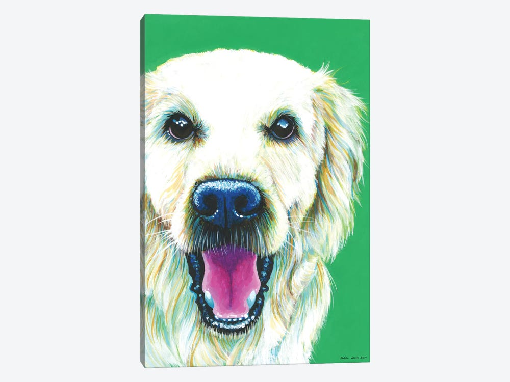 Golden Retriever On Emerald by Kirstin Wood 1-piece Canvas Print