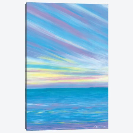 Sunset Beach Canvas Print #KWO93} by Kirstin Wood Canvas Wall Art