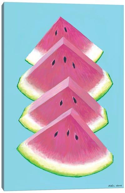 Watermelon Wedges Canvas Art Print