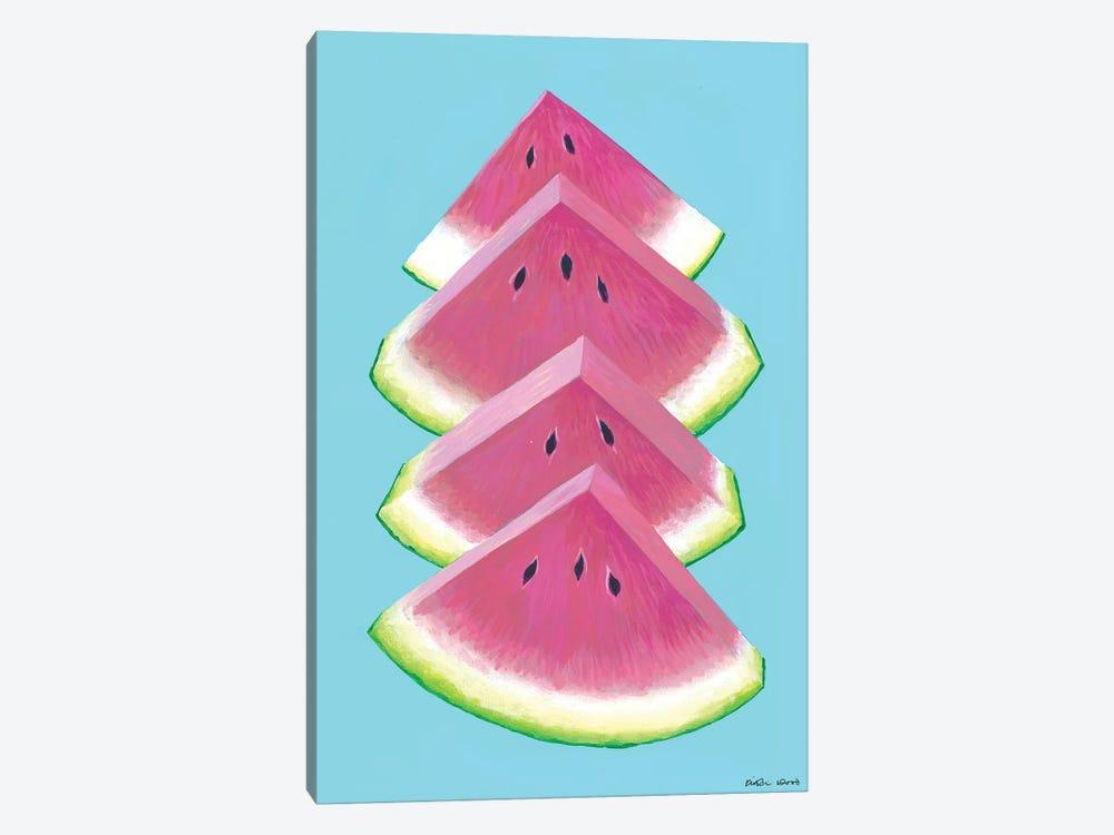 Watermelon Wedges by Kirstin Wood 1-piece Canvas Artwork