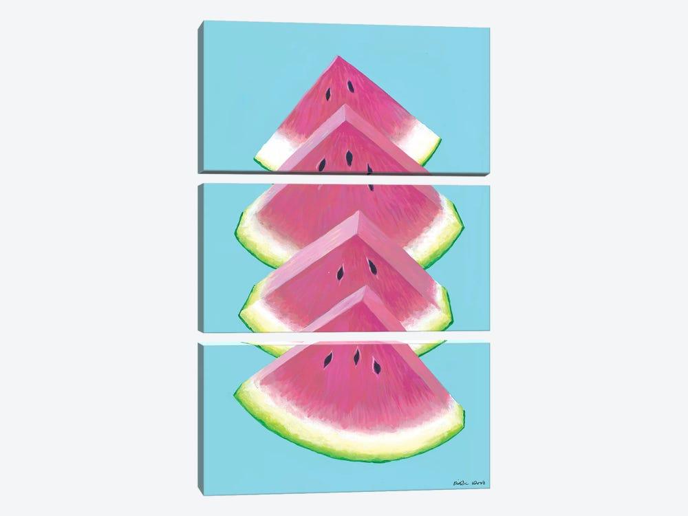 Watermelon Wedges by Kirstin Wood 3-piece Canvas Art