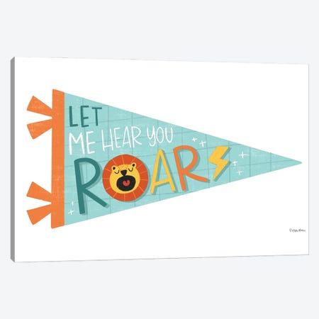 Roar Pennant Canvas Print #KYB12} by Kyra Brown Canvas Artwork