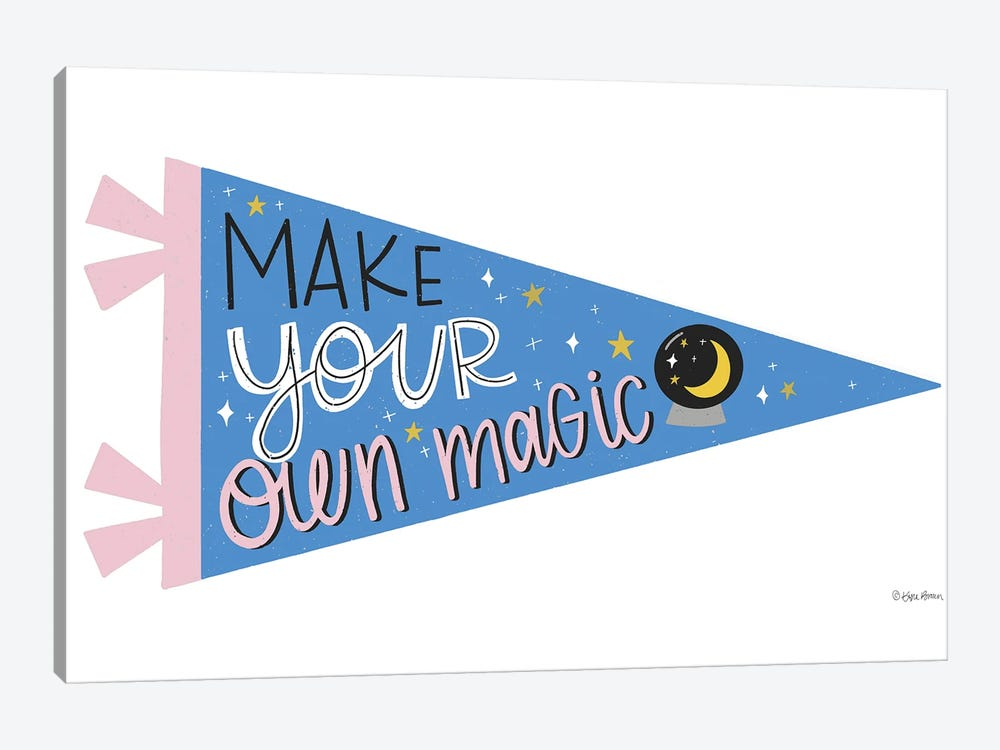 Make Your Own Magic Pennant by Kyra Brown 1-piece Canvas Art Print