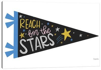 Reach for the Stars Pennant Canvas Art Print