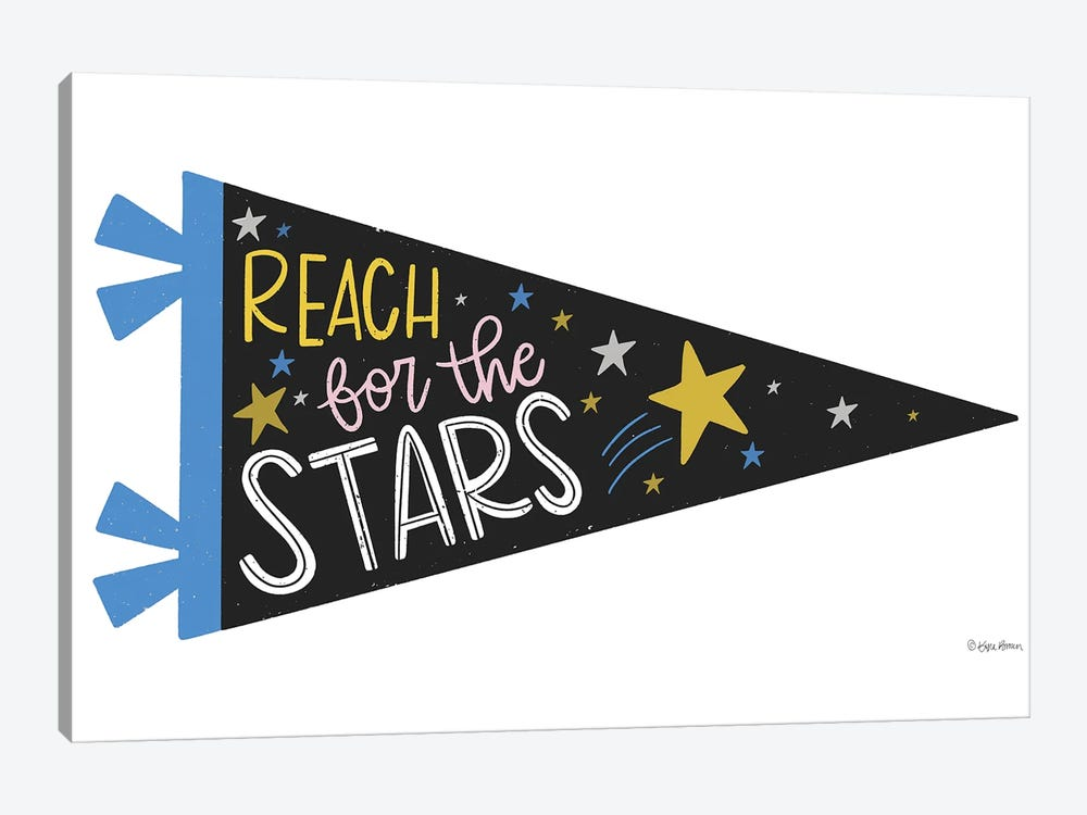 Reach for the Stars Pennant by Kyra Brown 1-piece Canvas Artwork
