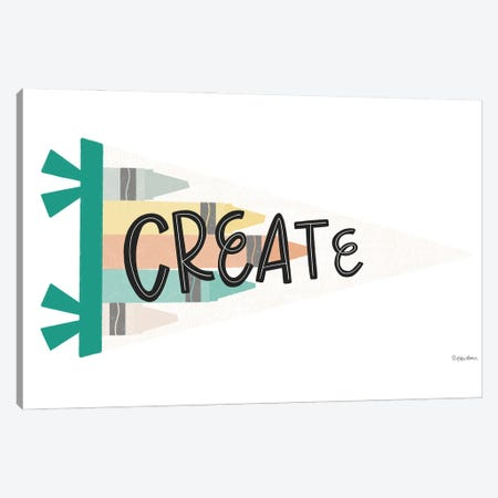 Create Pennant Canvas Print #KYB6} by Kyra Brown Canvas Wall Art