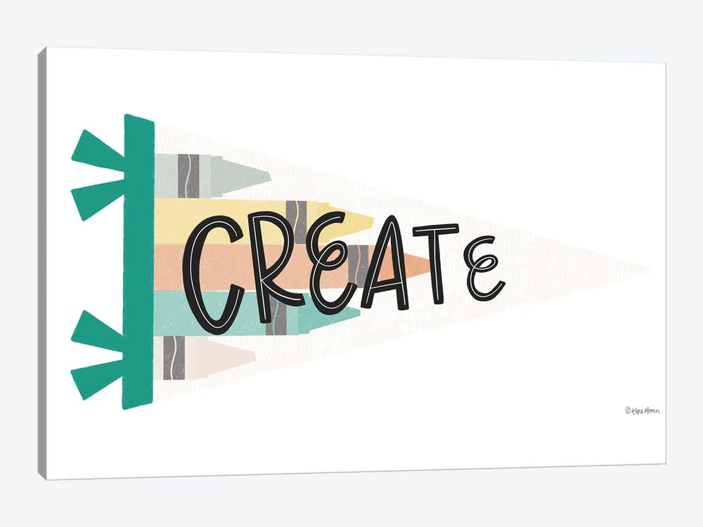 Create Pennant by Kyra Brown 1-piece Art Print