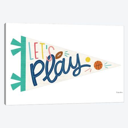 Let's Play Pennant Canvas Print #KYB8} by Kyra Brown Art Print