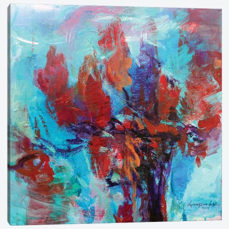 The Vibrant Canvas Print #KYG57} by Kyungsoo Lee Canvas Art
