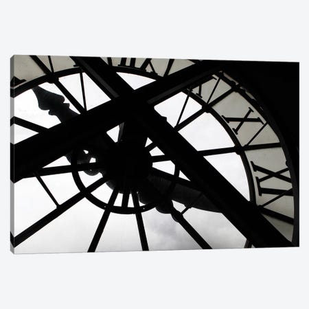 Clock In Zoom, Musee d'Orsay, Paris, Ile-de-France, France Canvas Print #KYM1} by Kymri Wilt Canvas Art