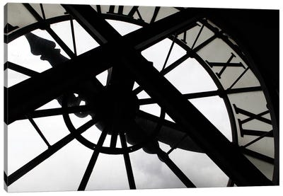 Clock In Zoom, Musee d'Orsay, Paris, Ile-de-France, France Canvas Print #KYM1