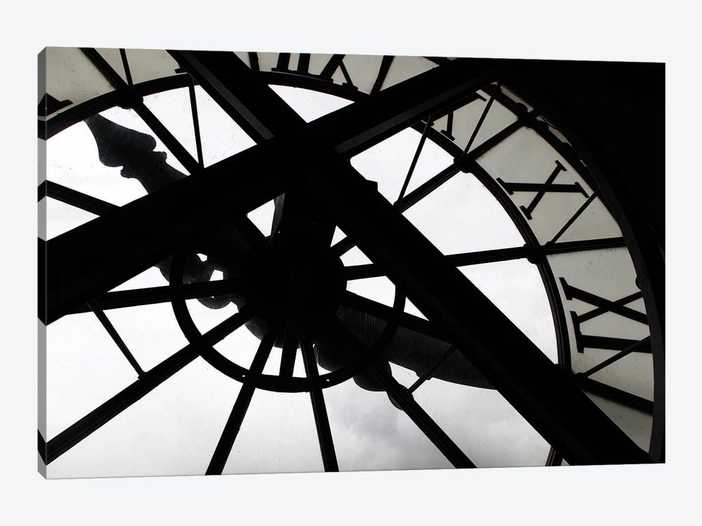 Clock In Zoom, Musee d'Orsay, Paris, Ile-de-France, France 1-piece Canvas Print