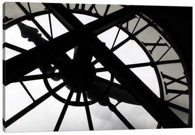 Clock In Zoom, Musee d'Orsay, Paris, Ile-de-France, France Canvas Art Print