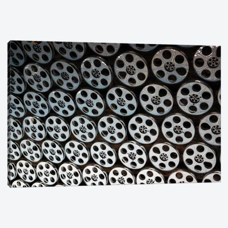 Film Reel Lined Ceiling, Hollywood & Vine Metro Rail Subway Station, Los Angeles County, California, USA Canvas Print #KYM2} by Kymri Wilt Canvas Artwork