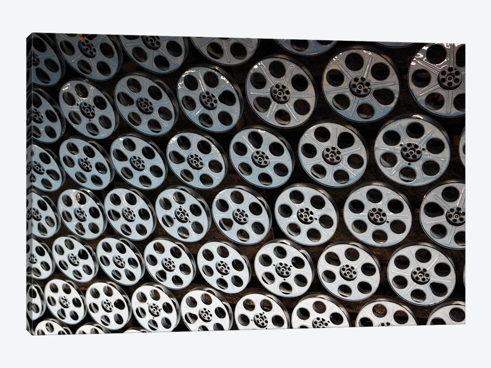 Film Reel Lined Ceiling, Hollywood & Vine Metro Rail Subway Station, Los Angeles County, California, USA by Kymri Wilt 1-piece Canvas Art