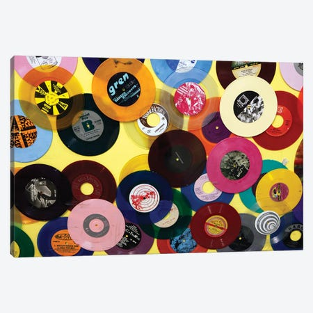 Vinyl 45's I, Amoeba Music Store, Hollywood, California, USA Canvas Print #KYM3} by Kymri Wilt Canvas Art