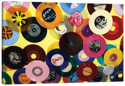 Vinyl 45's I, Amoeba Music Store, Hollywood, California, USA Canvas Art Print