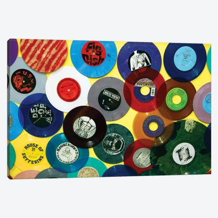 Vinyl 45's II, Amoeba Music Store, Hollywood, California, USA Canvas Print #KYM4} by Kymri Wilt Canvas Art Print