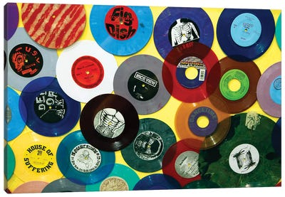 Vinyl 45's II, Amoeba Music Store, Hollywood, California, USA Canvas Print #KYM4