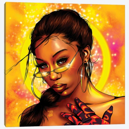 Flo Milli Canvas Print #KYN13} by Kaylin Taraska Canvas Art
