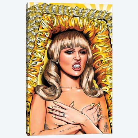 Miley Cyrus Canvas Print #KYN19} by Kaylin Taraska Canvas Wall Art