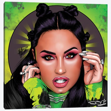 Demi Lovato Canvas Print #KYN7} by Kaylin Taraska Canvas Art