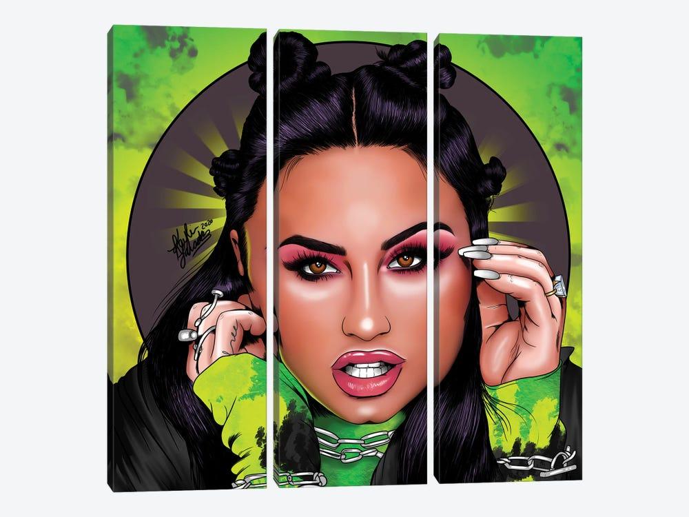 Demi Lovato by Kaylin Taraska 3-piece Canvas Wall Art
