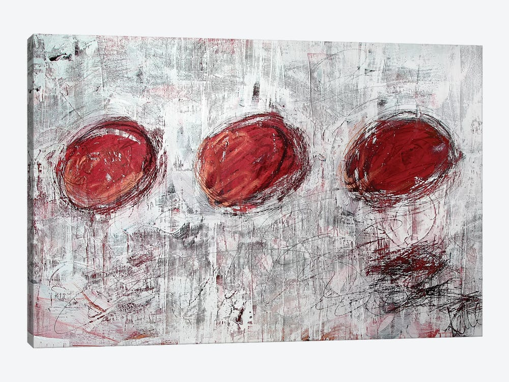 Red Circles by Kent Youngstrom 1-piece Canvas Artwork