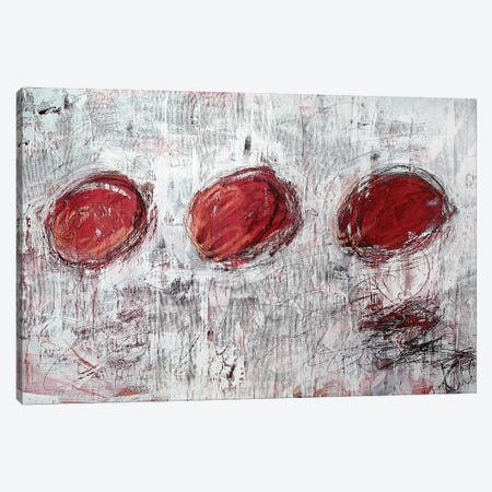 Red Circles Canvas Print #KYO106} by Kent Youngstrom Canvas Print