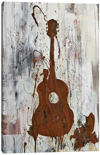 Rusty Guitar  Canvas Art Print