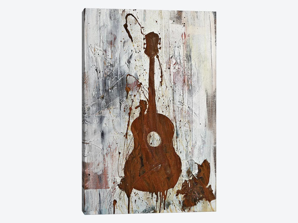 Rusty Guitar  by Kent Youngstrom 1-piece Canvas Art Print
