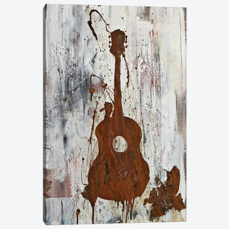Rusty Guitar  3-Piece Canvas #KYO109} by Kent Youngstrom Canvas Art