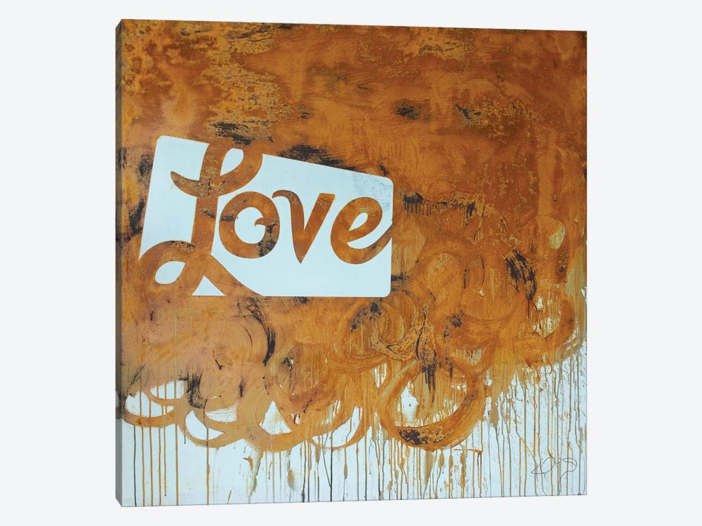 Rusty Love by Kent Youngstrom 1-piece Canvas Print