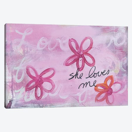 She Loves Me I Canvas Print #KYO113} by Kent Youngstrom Art Print
