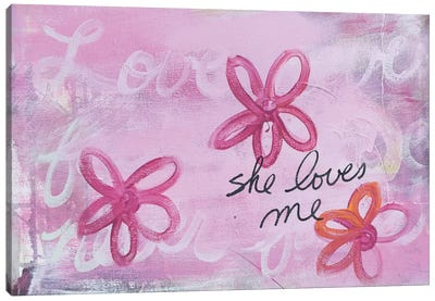 She Loves Me I Canvas Art Print