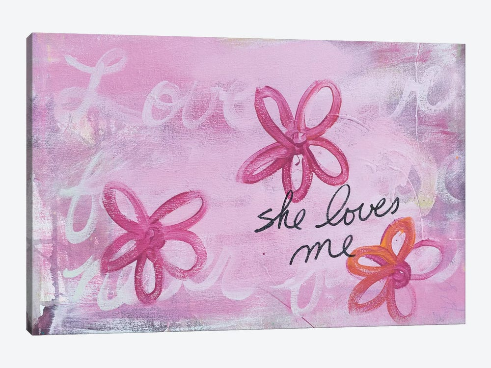 She Loves Me I 1-piece Canvas Wall Art