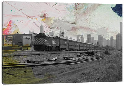 Train Home Canvas Art Print