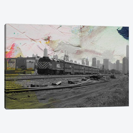 Train Home 3-Piece Canvas #KYO140} by Kent Youngstrom Canvas Artwork