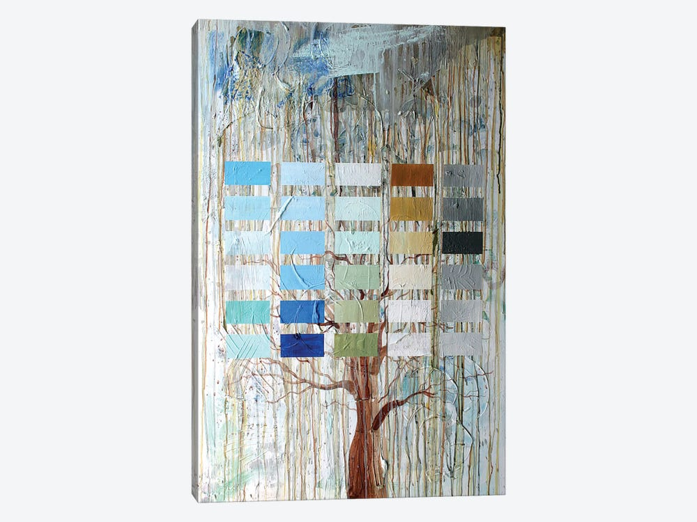 Tree Blocks by Kent Youngstrom 1-piece Canvas Art Print