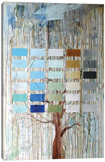 Tree Blocks Canvas Art Print