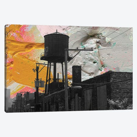 Water Tower Canvas Print #KYO148} by Kent Youngstrom Canvas Artwork