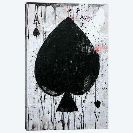 Ace Of Spades Canvas Print #KYO160} by Kent Youngstrom Canvas Artwork