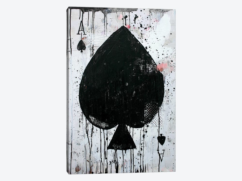 Ace Of Spades by Kent Youngstrom 1-piece Canvas Artwork
