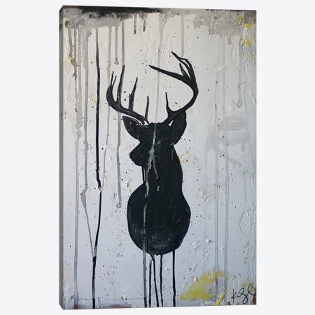 Black Deer Canvas Print #KYO168} by Kent Youngstrom Canvas Artwork