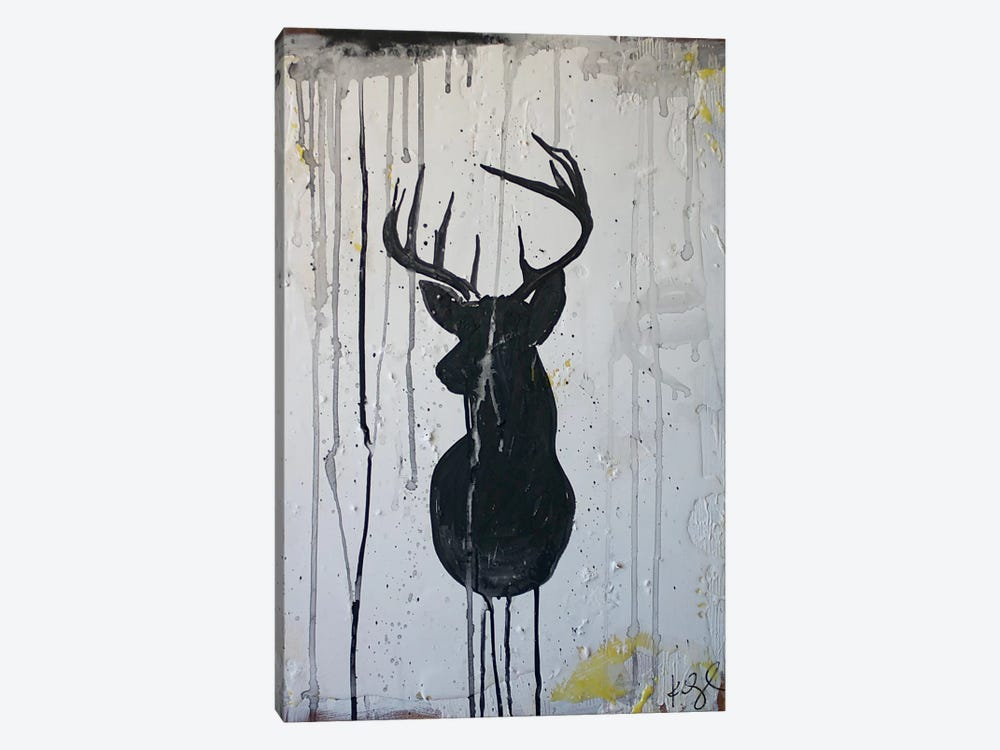 Black Deer 1-piece Canvas Wall Art