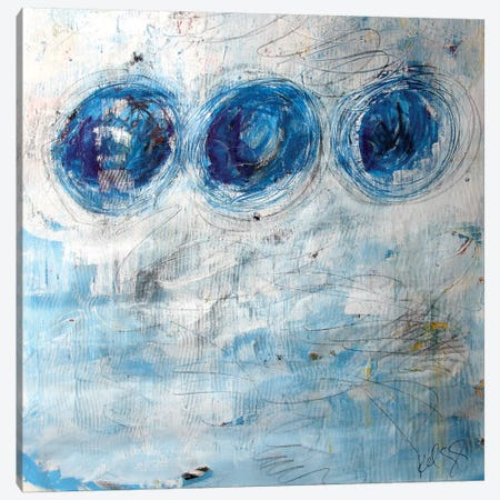 Blue Circles Canvas Print #KYO169} by Kent Youngstrom Canvas Artwork