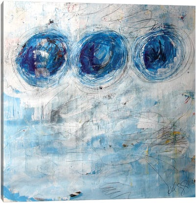 Blue Circles Canvas Print #KYO169