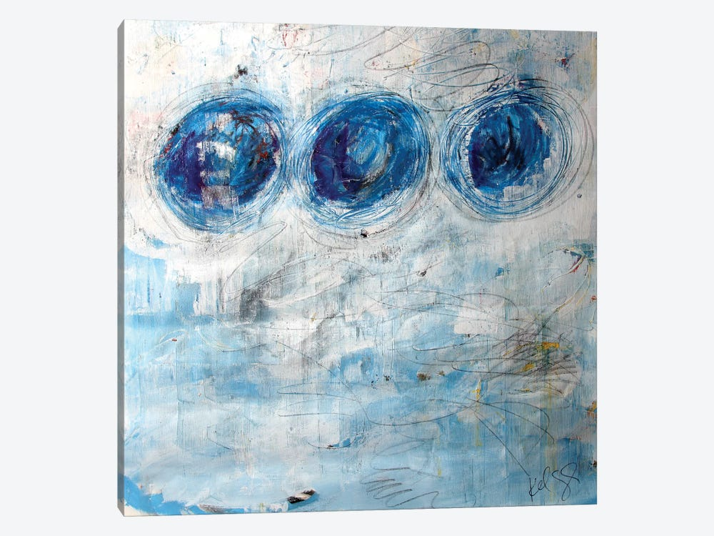Blue Circles by Kent Youngstrom 1-piece Art Print
